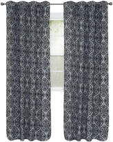 Asstd National Brand Cambridge Home Dana Flocked Grommet-Top Curtain Panel