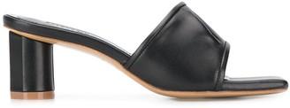 SALONDEJU 60mm Pleated Open Toe Sandals