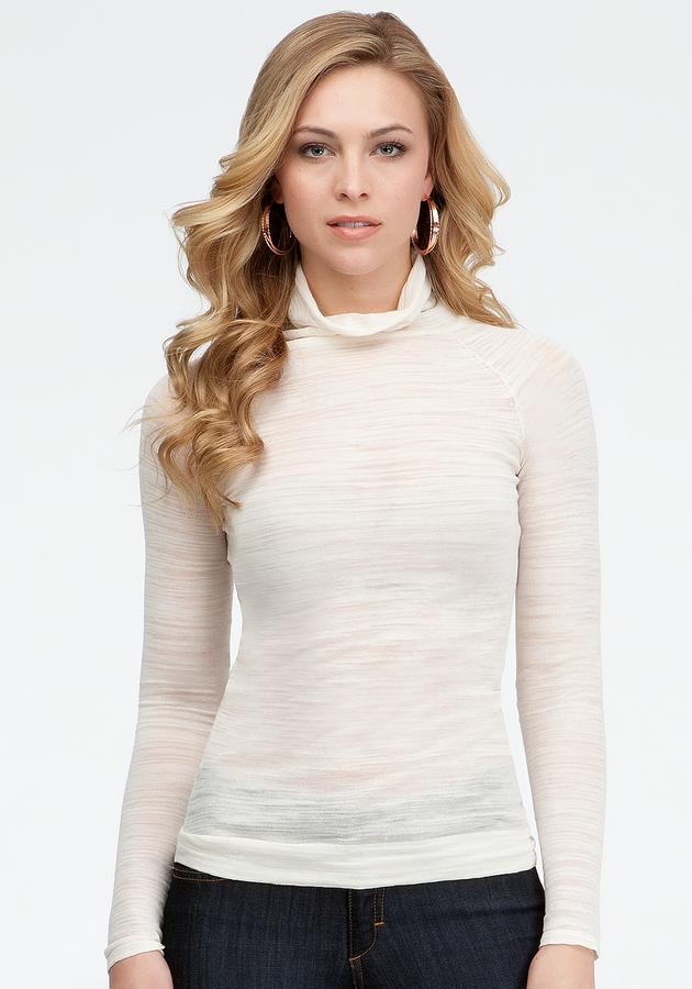 Bebe Long Sleeve Turtleneck Sweater