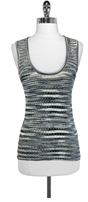 M Missoni Striped Metallic Wool Blend Tank