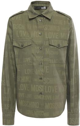 Love Moschino Cotton-jacquard Shirt