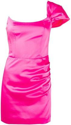 De La Vali Maggie one-shoulder mini dress