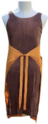 Issey Miyake Camel Polyester Dresses
