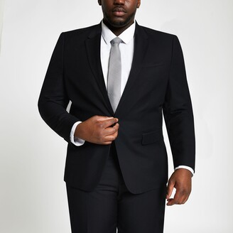 River Island Mens Big and Tall Black suit jacket