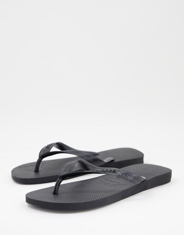 Havaianas classic top flip flops in black