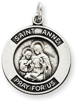 1928 Gold and Watches Sterling Silver Antiqued Saint Anne Medal