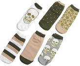 Wet Seal Skull Multi Sock Six Pack