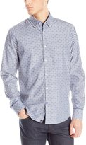 Stone Rose Men's Bengal Stripe Long Sleeve Button Down Shirt