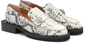 Ganni Exclusive to Mytheresa Snake-effect leather loafers