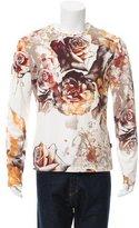 Just Cavalli Floral Print Crew Neck T-Shirt