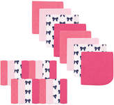 Luvable Friends Pink Bows Washcloth - Set of 24