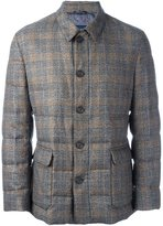 Etro checked padded jacket