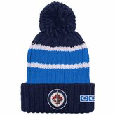 Reebok Winnipeg Jets CCM Team Stripe Cuffed Pom Toque