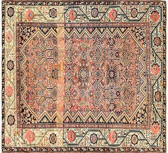"One Kings Lane Vintage Antique Persian Malayer Rug - 5'4"" x 5'8"" - Eli Peer Oriental Rugs - ivory/multi"