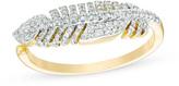 Zales 1/4 CT. T.W. Diamond Feather Open Shank Ring in 14K Gold
