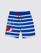 Marks and Spencer Striped Swim Shorts (0-5 Years)