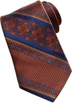 Robert Graham Patterned-Stripe Silk Tie, Blue