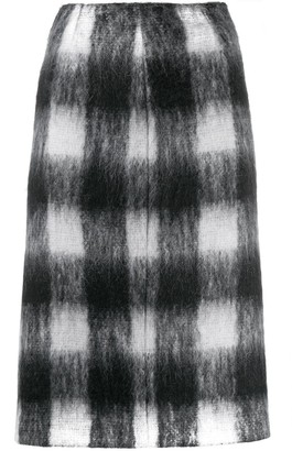 Maison Margiela Check Print Pencil Skirt