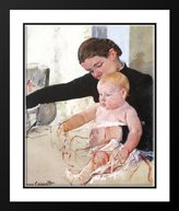 Art-Direct ArtDirect Bathing the Young Heir 25x29 Framed and Double Matted Art Print by Cassatt, Mary