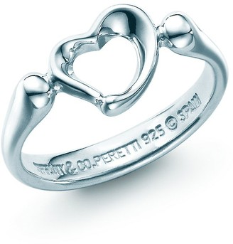 Tiffany & Co. Elsa Peretti Open Heart ring in sterling silver, mini