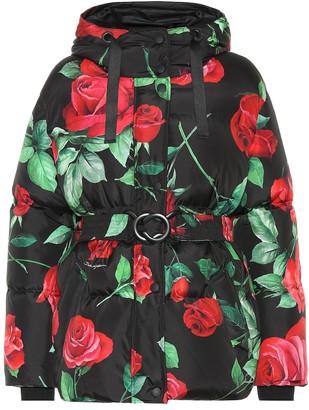 Dolce & Gabbana Rose-print coat
