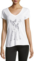 Signorelli Deer Graphic Tee, White