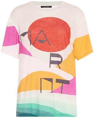 Isabel Marant Zewel Printed Cotton-Jersey T-Shirt