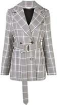 Stella McCartney check belted blazer jacket