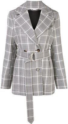 Stella McCartney check belted blazer jacket