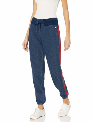 Tommy Hilfiger Women's Denim Terry Slimfit Sweatpant with Side Stripe