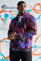 BoohooMAN Big & Tall Quavo Tie Dye Hoodie With Print