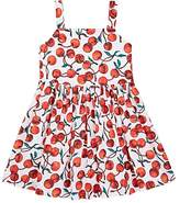 Milly Kids' Emaline Cherry-Print Stretch-Cotton Dress