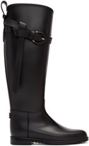 Burberry Black Roscot Riding Rain Boots