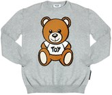 Moschino Bear Intarsia Cotton & Wool Sweater