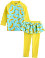 Vaenait Baby 2T-7T Kids Girls UPF 50+ Rashguard Swimsuit Set M