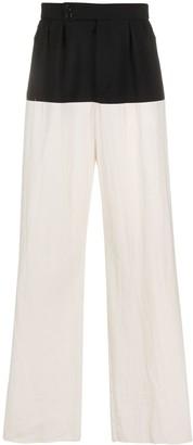 Raf Simons Colour-Block Pleated Trousers