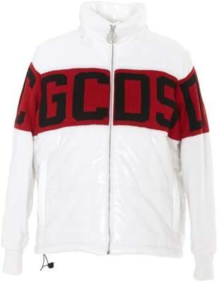 GCDS Logo Panelled Down Jacket