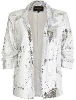River Island Womens White sequin blazer