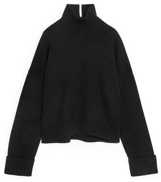 Arket High-Neck Wool Jumper