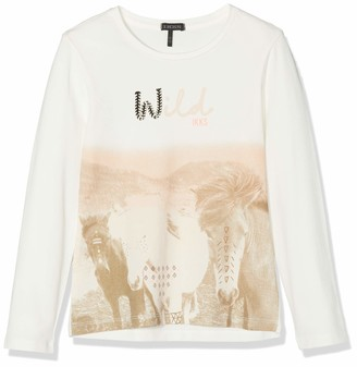 Ikks Junior Girl's Tee Shirt Ml Chevaux Sauvages T