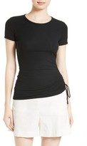 Theory Women's Jilaena T Side Ruched Ribbed Tee