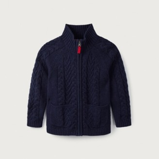 The White Company Zip Cable Cardigan (1-6yrs), Blue, 2-3yrs