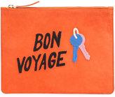 Lizzie Fortunato 'Bon Voyage' clutch - women - Suede - One Size