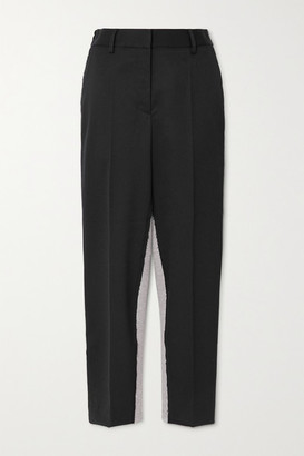 MM6 MAISON MARGIELA Twill And Cotton-blend Jersey Tapered Pants - Black
