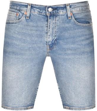Levi's Levis 511 Slim Fit Hemmed Denim Shorts Blue