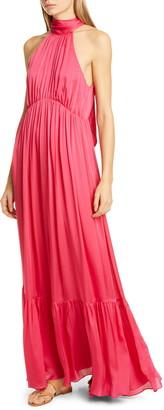 Zimmermann Halter Bow Silk Maxi Dress