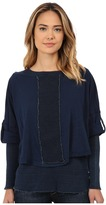 Miraclebody Jeans Mixed Double Layer Long Sleeve Tee w/ Body-Shaping Inner Shell