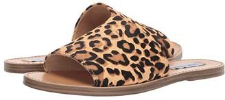 Steve Madden Gracel Flat Sandal (Leopard) Women's Shoes