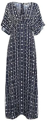 Biba Mono Embroidered Maxi Dress