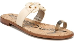 Sam Edelman Eaden Toe-Loop Flat Sandals Women's Shoes